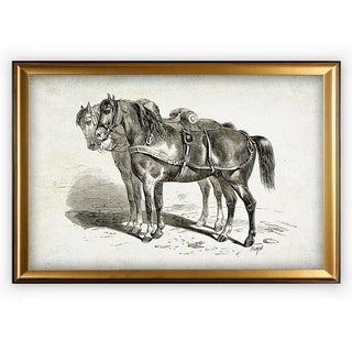 Equine Plate II - Gold Frame