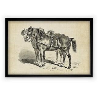 Equine Plate I - Black Frame