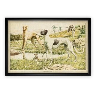 Canine Plate II - Black Frame
