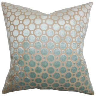 Kostya Geometric 24-inch Down Feather Throw Pillow Blue