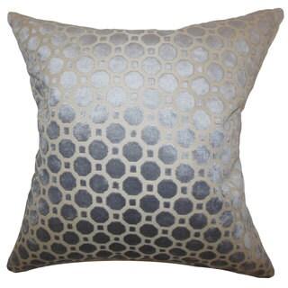 Kostya Geometric 24-inch Down Feather Throw Pillow Grey