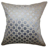 Kostya Geometric 24-inch Down Feather Throw Pillow Grey