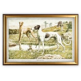 Canine Plate I - Gold Frame