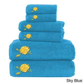 Embroidered 6-Piece Towel Set