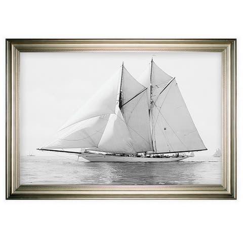 Sailing Yachy IV -Silver Frame