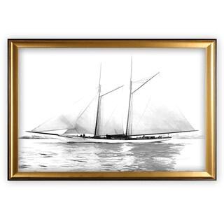 Sailing Yacht I - Gold Frame