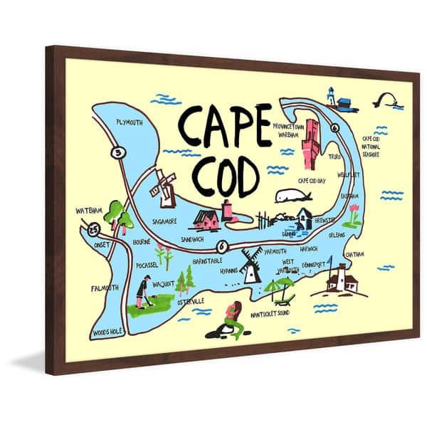 Marmont Hill - Handmade Cape Cod Map Framed Print