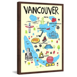 'Vancouver Iconic Sites' Framed Painting Print