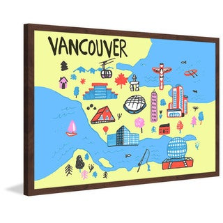 'Vancouver Architecture - Yellow' Framed Painting Print
