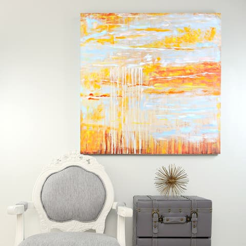 """River of Goods 36""""H Hand-Painted Canvas Square Wall Decor"""