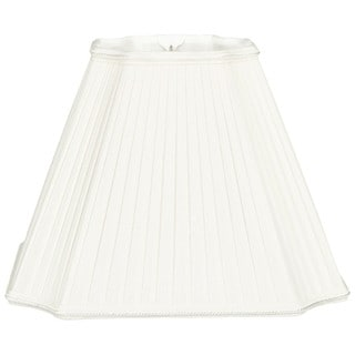 Royal Designs Inverted Cut Corner Pleated White Designer Lamp Shade