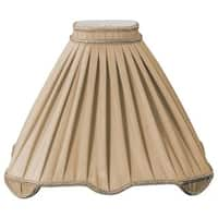Royal Designs Pleated Square with Top Gallery Designer Lamp Shade, Antique Gold, 4.5 x 15 x 12.5