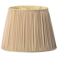 Royal Designs Gold Oval Pleated Lamp Shade