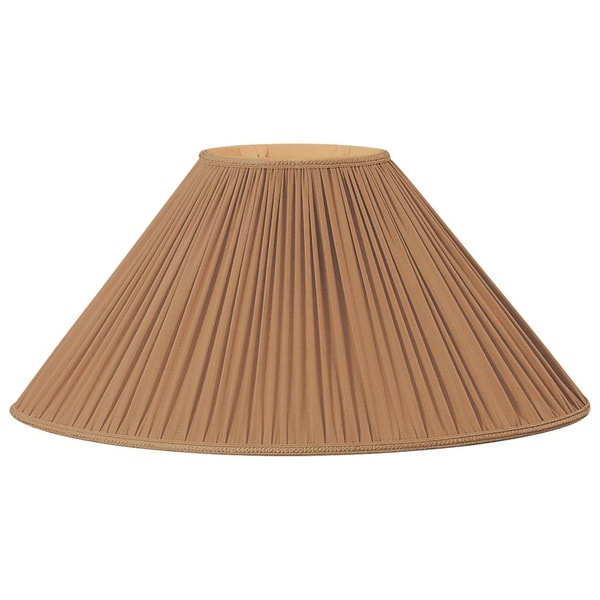 Royal Designs Beige/Brown (4 x 6.5)-inch x (12 x 21.5)-inch x 12.5-inch Pleated Oval Lampshade