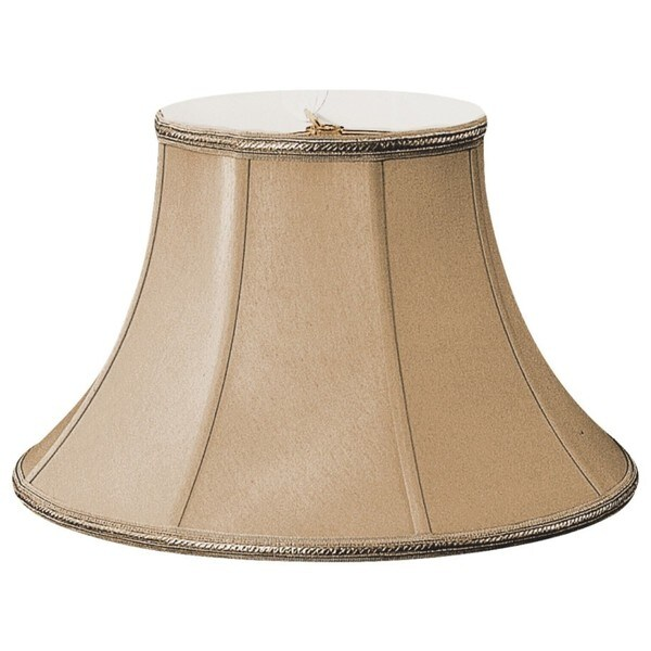 Royal Designs Shallow Bell Antique Gold Silk 9.25-inch x 18-inch x 12-inch Designer Lamp Shade