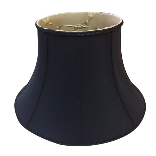 Royal Designs Black 7.5-inch x 14-inch x 9-inch Shallow Bell Lampshade