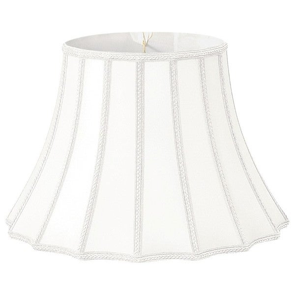 Royal Designs White Scalloped Bell Lamp Shade