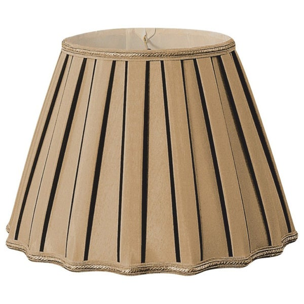 Royal Designs Staggered Pleat Antique Gold/Black Designer Lamp Shade