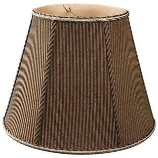 Royal Designs Empire Designer Lamp Shade, Brown/Black 6 x 12 x 9.5