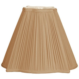 Royal Designs Fancy Square Empire Pleated Designer Lamp Shade, Antique Gold, 5 x 12 x 10