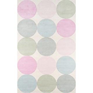 Novogratz by Momeni Delmar Agatha Dots Hand Tufted Wool Area Rug (Pastel - 5 x 8)