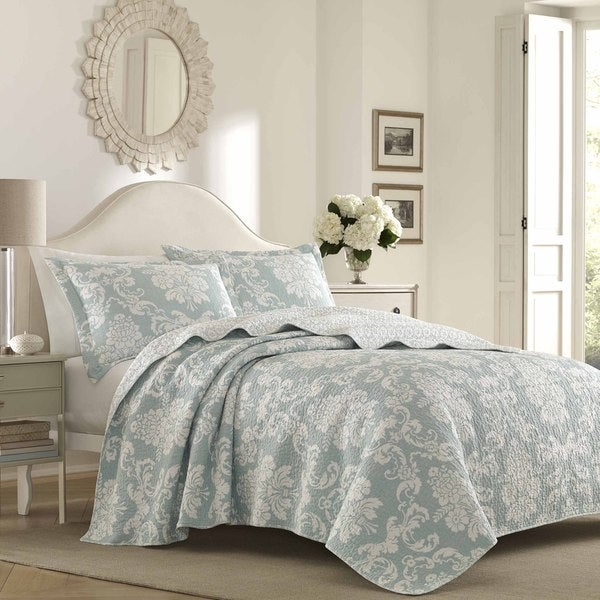 Laura Ashley Venetia Quilt Set. Opens flyout.