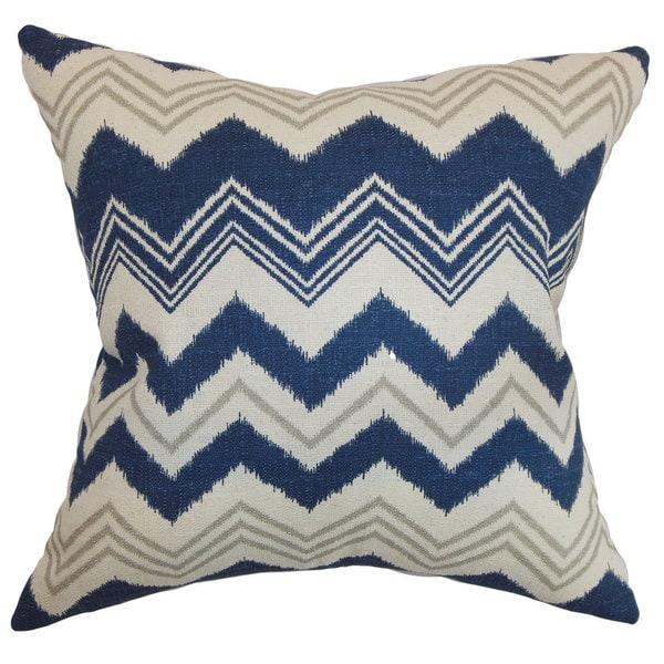 Quirindi Zigzag 24-inch Down Feather Throw Pillow Birch