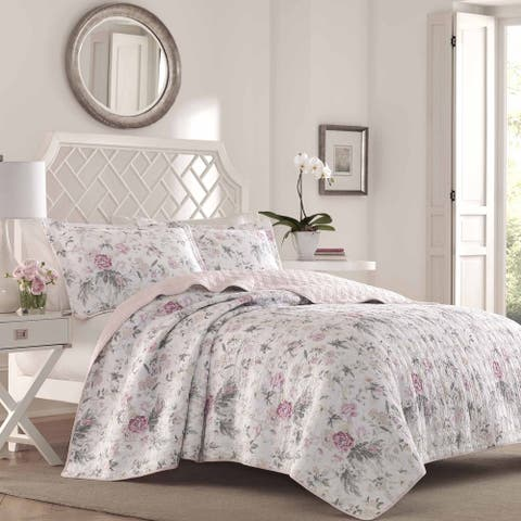 Laura Ashley Breezy Floral Quilt Set