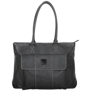 Kenneth Cole Reaction Pebbled Faux Leather Single Compartment Top Zip Womens 16-inch Computer Business Tote