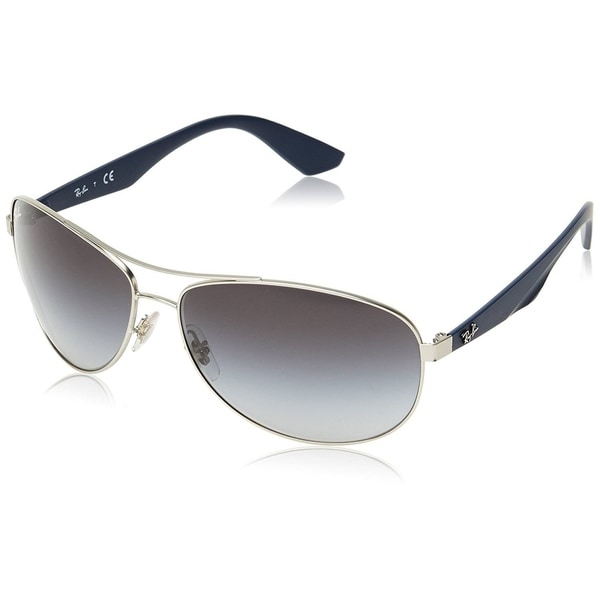 905af5e95b6 Shop Ray-Ban RB3526 Men s Silver Blue Frame Grey Gradient 63mm Lens ...