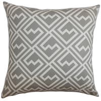 Ragnhild Geometric 24-inch Down Feather Throw Pillow Gray
