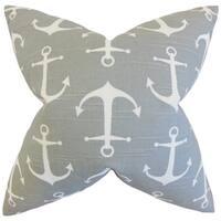 Gish Coastal 24-inch Down Feather Throw Pillow Gray