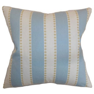 Odienne Stripes 24-inch Down Feather Throw Pillow Putty