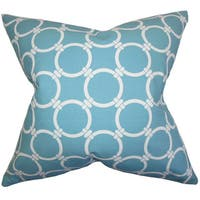 Betchet Geometric 24-inch Down Feather Throw Pillow Blue