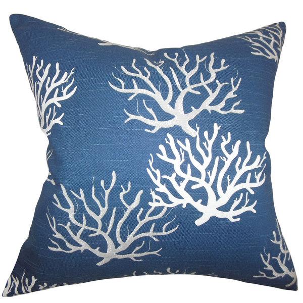 Hafwen Coastal 24inch Down Feather Throw Pillow Navy Blue Free