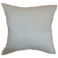 Lviv Houndstooth 24-inch Down Feather Throw Pillow Powder Blue