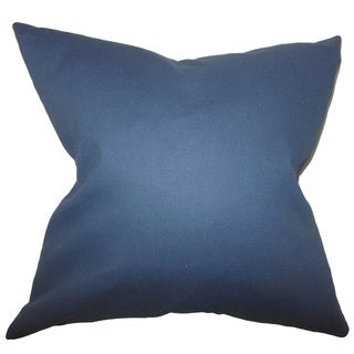 Kalindi Solid 24-inch  Feather Throw Pillow Blue