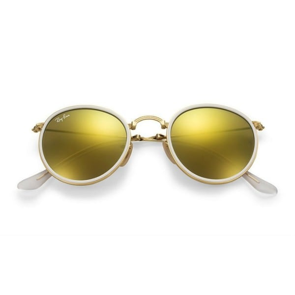 a8b3b6c94c4f ... coupon for ray ban round folding rb3517 unisex gold frame yellow flash  48mm lens sunglasses 1b302