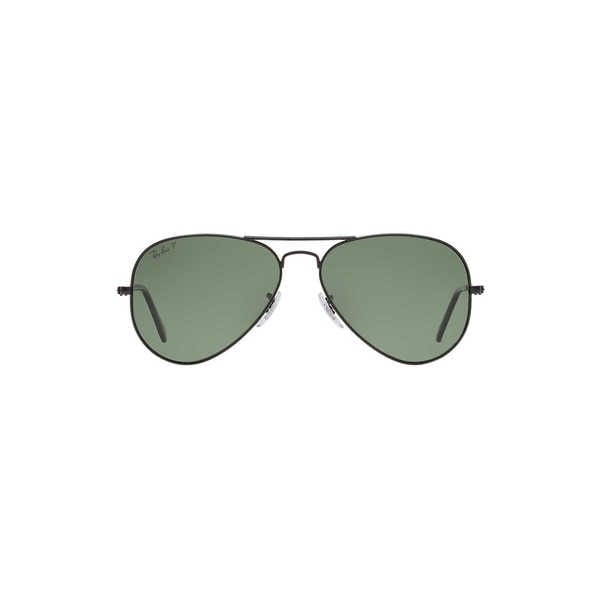 223bacfb261 Shop Ray-Ban Aviator RB3025 Unisex Matte Black Frame Polarized Green 58mm  Lens Sunglasses - Free Shipping Today - Overstock - 15370830