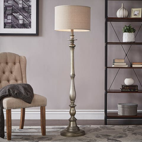 Isabelle Antique Silver Floor Lamp by iNSPIRE Q Classic