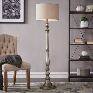 Isabelle Antique Silver Floor Lamp from INSPIRE Q by iNSPIRE Q Classic