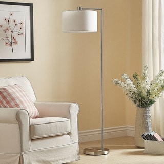 Hilda Contemporary Brushed Steel Floor Lamp iNSPIRE Q Modern