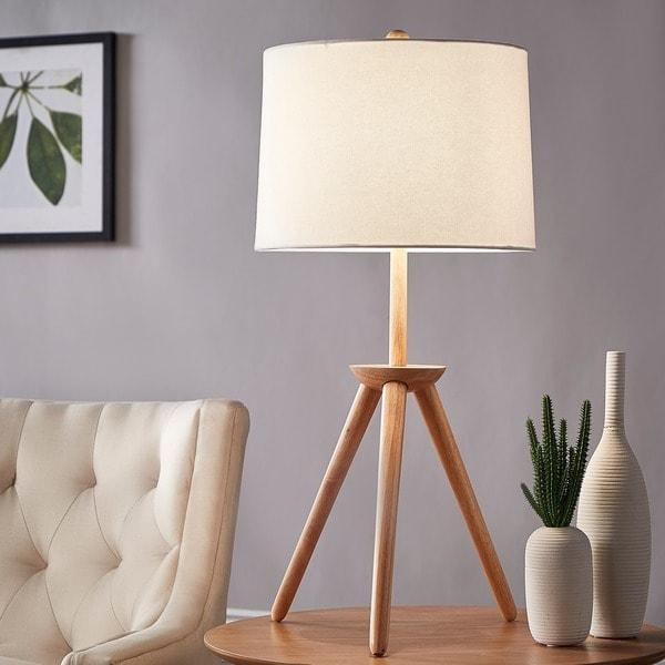 Kendall Modern Wood Tripod Table Lamp iNSPIRE Q Modern