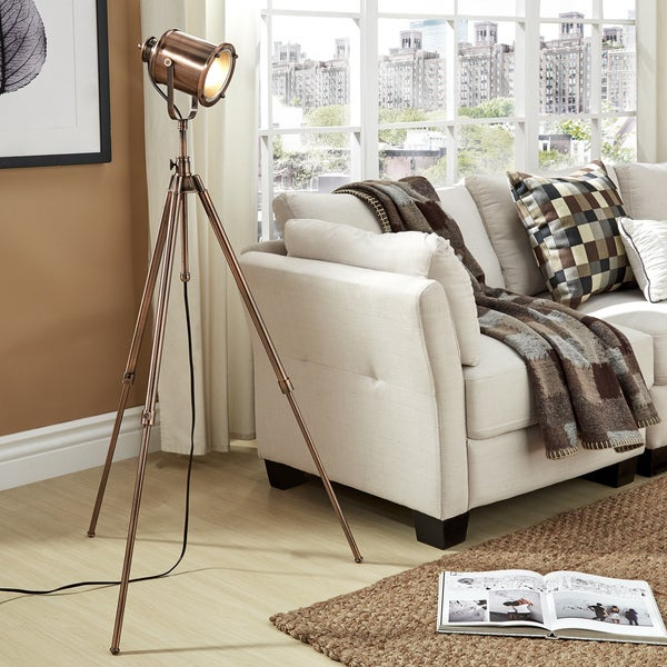 Langston Copper Adjustable Tripod Floor Lamp by iNSPIRE Q Artisan