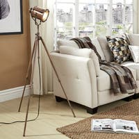 iNSPIRE Q Artisan Langston Copper Adjustable Tripod Floor Lamp