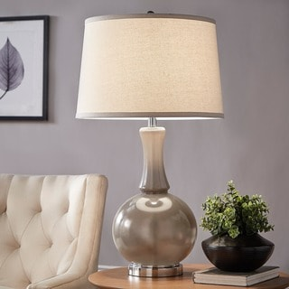 Kinsey Grey Glass Table Lamp By INSPIRE Q Bold (Option: Grey)