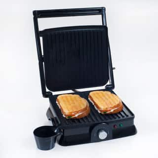 Panini Press Indoor Grill Maker by Chef Buddy https://ak1.ostkcdn.com/images/products/15370980/P21831223.jpg?impolicy=medium
