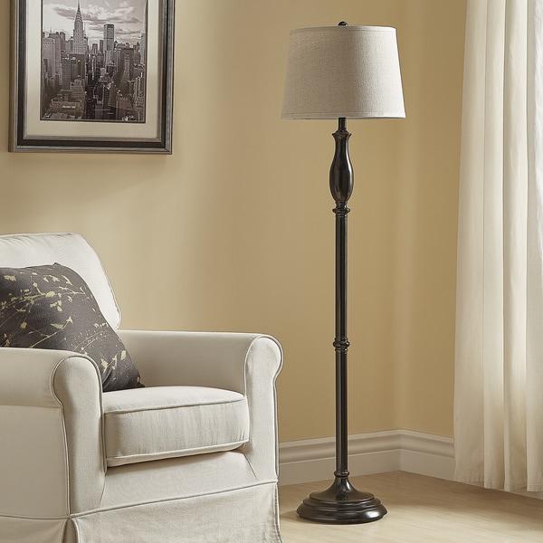 Ellsworth Black Traditional Floor Lamp by iNSPIRE Q Classic