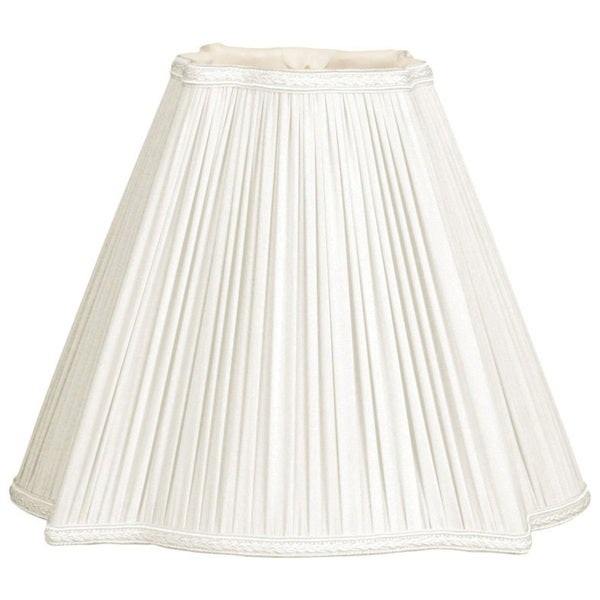 Royal Designs White Shantung Square Empire Pleated Lamp Shade