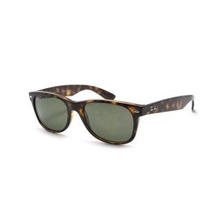 Ray-Ban New Wayfarer RB2132 Unisex Tortoise Frame Polarized Green 58mm Lens Sunglasses